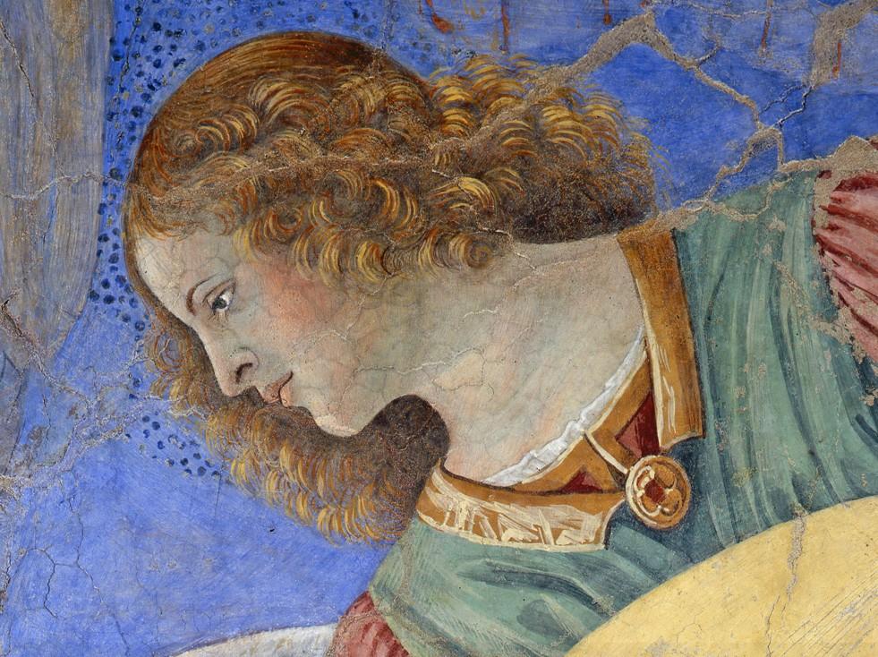 La imagen tiene un atributo ALT vacío; su nombre de archivo es melozzo-da-forli-angel-tocando.jpeg