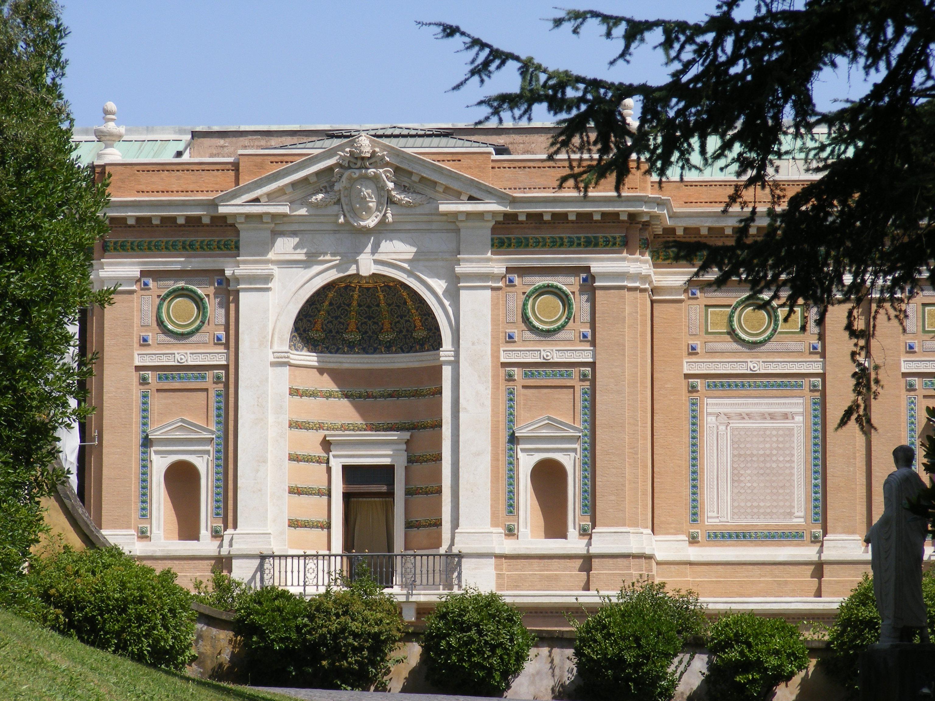 La imagen tiene un atributo ALT vacío; su nombre de archivo es pinacoteca_vaticana_exterior_southwest_part.jpg