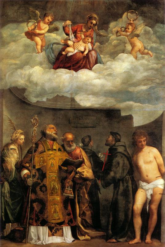 La imagen tiene un atributo ALT vacío; su nombre de archivo es titian_madonna_of_frari_vatican.jpg