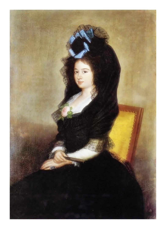 Resultado de imagen de basquiña y manto negro  S.XVIII