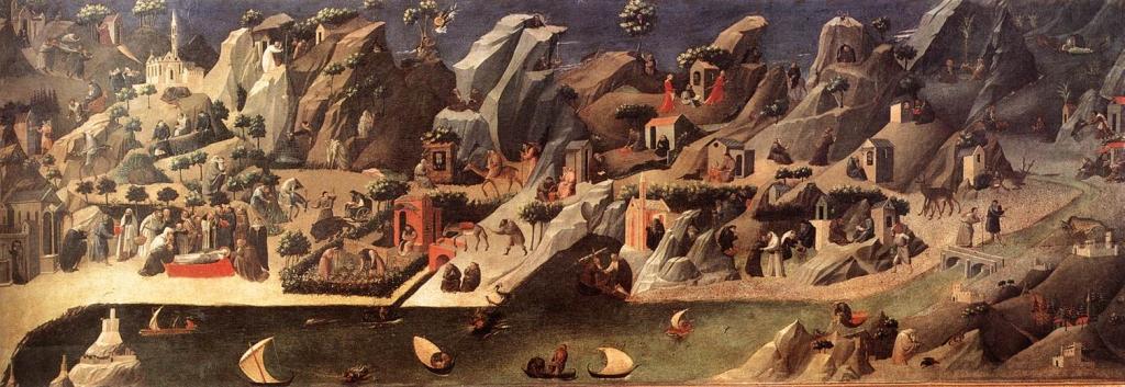La imagen tiene un atributo ALT vacío; su nombre de archivo es la-tebaide-gherardo-starnina-1410fra-angelico.jpg