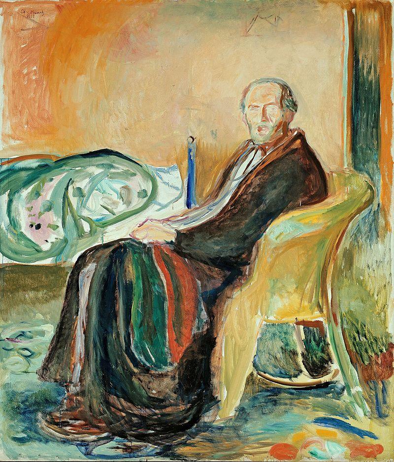 La imagen tiene un atributo ALT vacío; su nombre de archivo es edvard_munch_-_self-portrait_with_the_spanish_flu_1919.jpg